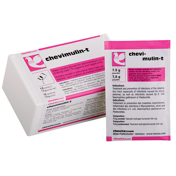 CHEVIMULIN-T powder - (treats respiratory tract infections, especially catarrh and wheezing) - (box - 12 sachets)