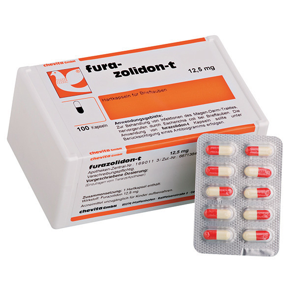 FURAZOLIDON-T capsules - (treats salmonellosis / paratyphus & general bacterial infections)