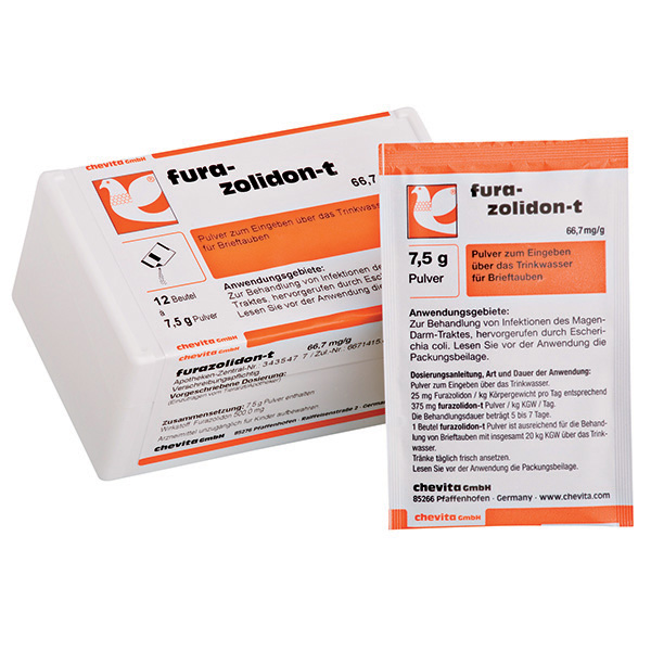 FURAZOLIDON-T powder - (treats salmonellosis / paratyphus & general bacterial infections)